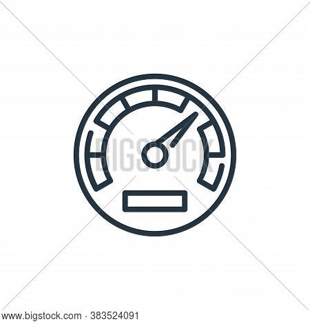 speedometer icon isolated on white background from seo and marketing collection. speedometer icon tr