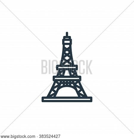 eiffel tower icon isolated on white background from building collection. eiffel tower icon trendy an