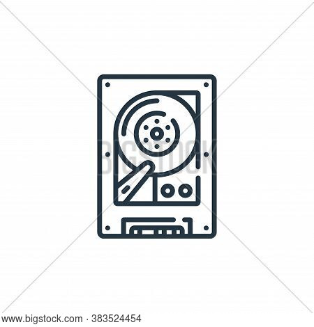 hard disc icon isolated on white background from hardware collection. hard disc icon trendy and mode