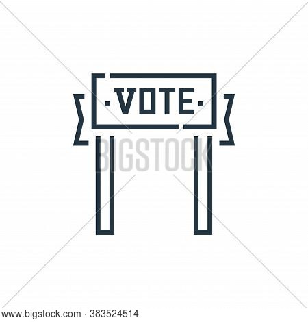 vote icon isolated on white background from voting elections collection. vote icon trendy and modern