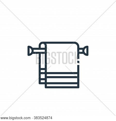 towel icon isolated on white background from furniture collection. towel icon trendy and modern towe