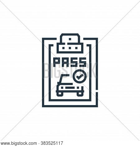pass icon isolated on white background from driving school collection. pass icon trendy and modern p