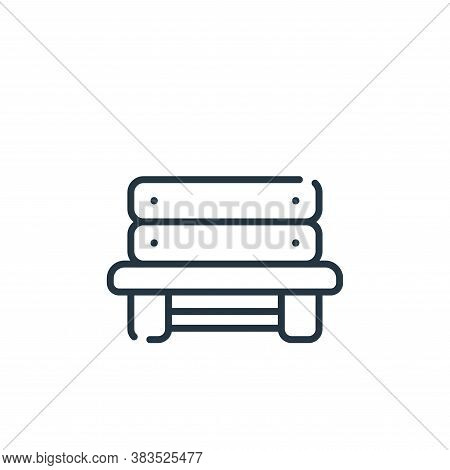 bench icon isolated on white background from baseball collection. bench icon trendy and modern bench