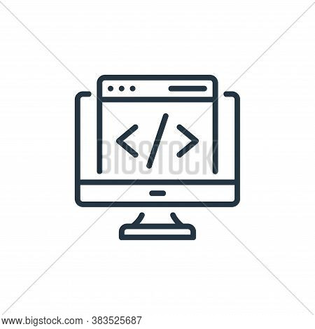 coding icon isolated on white background from seo and marketing collection. coding icon trendy and m
