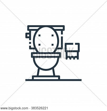 toilets icon isolated on white background from furniture collection. toilets icon trendy and modern