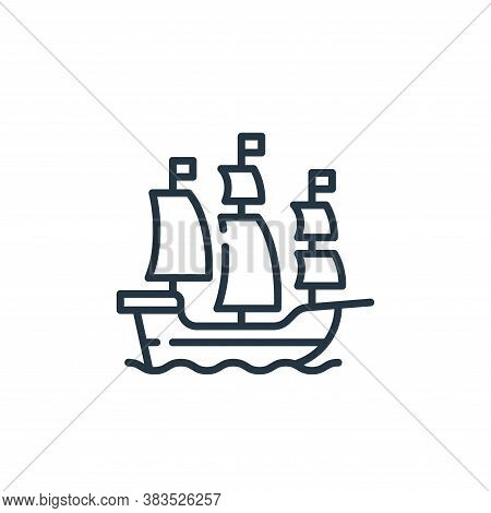 ship icon isolated on white background from fairytale collection. ship icon trendy and modern ship s