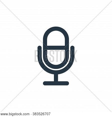 microphone icon isolated on white background from school collection. microphone icon trendy and mode