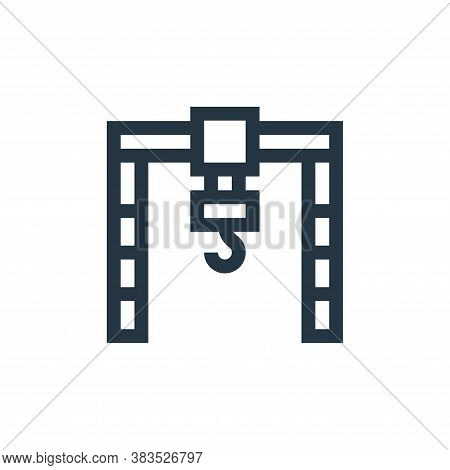 crane icon isolated on white background from machinery collection. crane icon trendy and modern cran