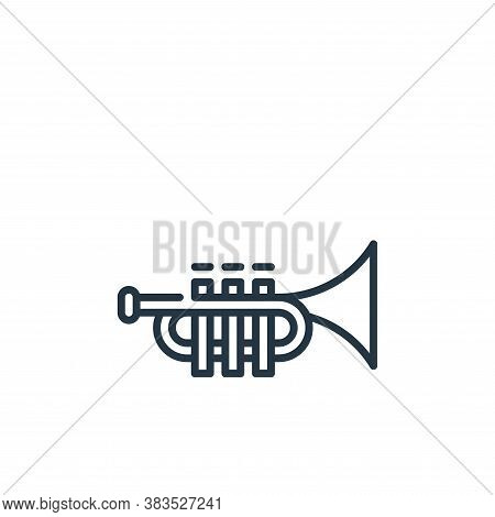 trumpet icon isolated on white background from cinco de mayo collection. trumpet icon trendy and mod