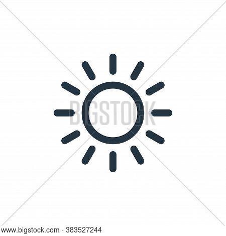 sun icon isolated on white background from animal and nature collection. sun icon trendy and modern