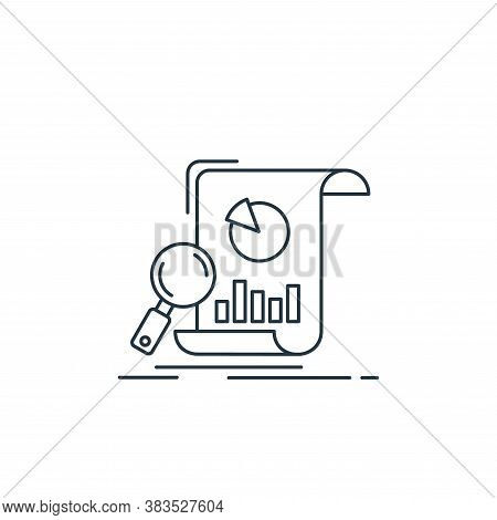 analytics icon isolated on white background from analytic investment and balanced scorecard collecti