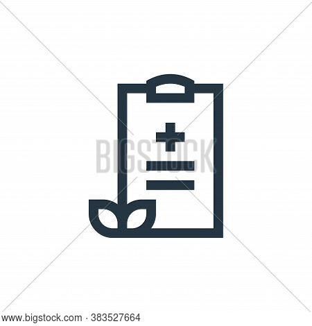 medical report icon isolated on white background from nursing collection. medical report icon trendy