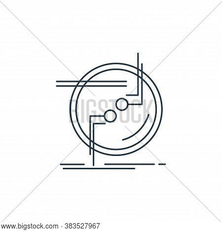 connection icon isolated on white background from d printing and communication collection. connectio