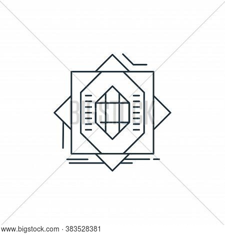 abstract icon isolated on white background from d printing and communication collection. abstract ic