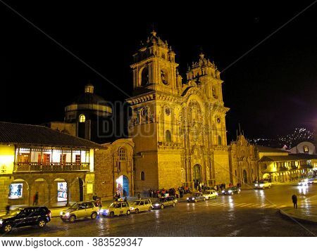 Cusco / Peru - 05 May 2011: Iglesia De La Compania De Jesus, The Ancient Church In Cusco, Peru
