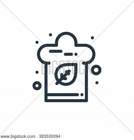 chef hat icon isolated on white background from food collection. chef hat icon trendy and modern che