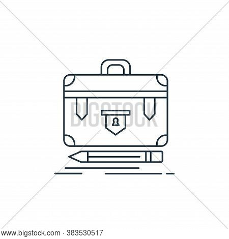 briefcase icon isolated on white background from analytic investment and balanced scorecard collecti