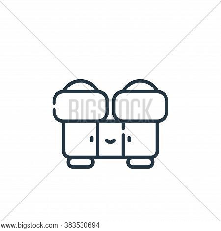 binoculars icon isolated on white background from adventure collection. binoculars icon trendy and m