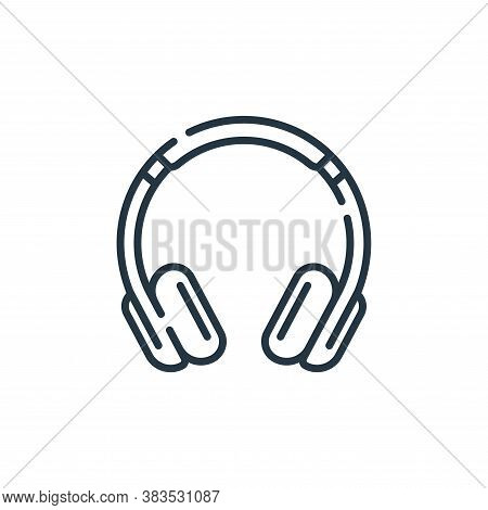 headset icon isolated on white background from hardware collection. headset icon trendy and modern h