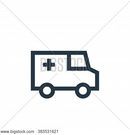 ambulance icon isolated on white background from nursing collection. ambulance icon trendy and moder