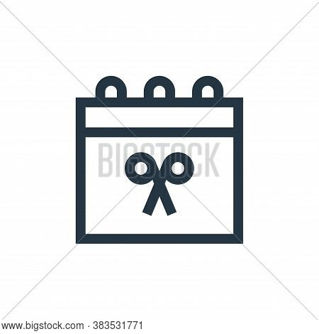 appointment icon isolated on white background from hairdressing and barber shop collection. appointm