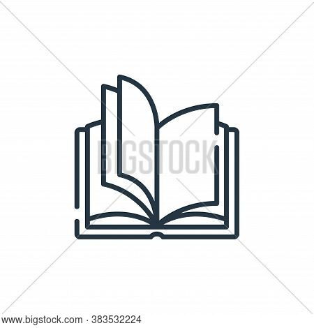 open book icon isolated on white background from books and literature collection. open book icon tre