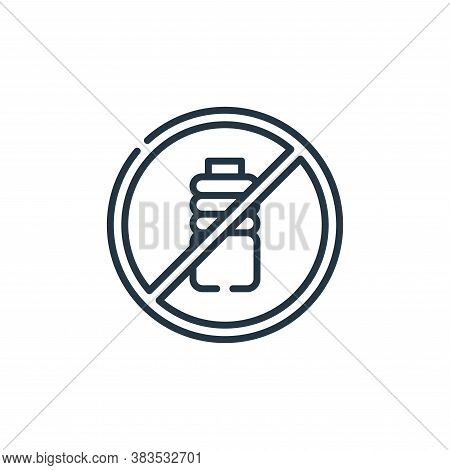 no plastic bottles icon isolated on white background from mother earth day collection. no plastic bo