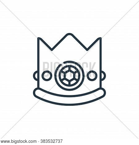 crown icon isolated on white background from celebration collection. crown icon trendy and modern cr