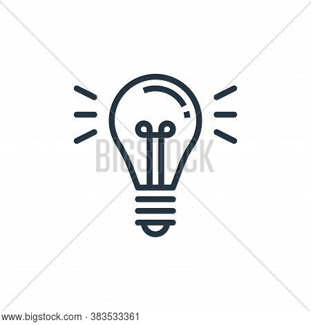 light icon isolated on white background from furniture collection. light icon trendy and modern ligh