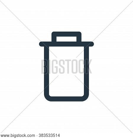 delete icon isolated on white background from email ui collection. delete icon trendy and modern del
