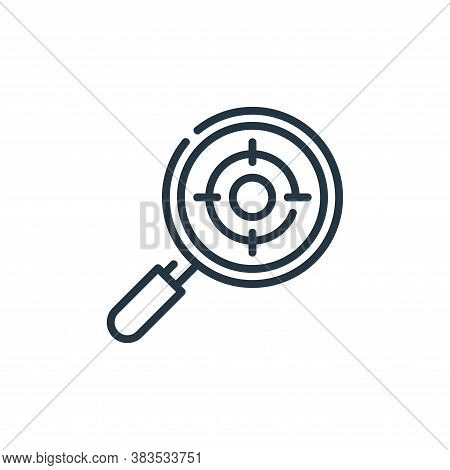search icon isolated on white background from seo and marketing collection. search icon trendy and m