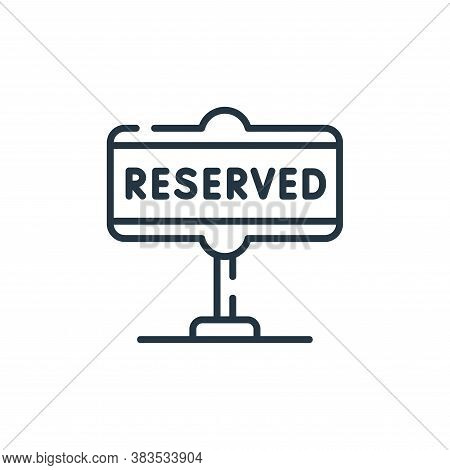 reserved icon isolated on white background from restaurant collection. reserved icon trendy and mode