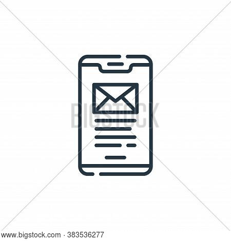 smartphone icon isolated on white background from office collection. smartphone icon trendy and mode