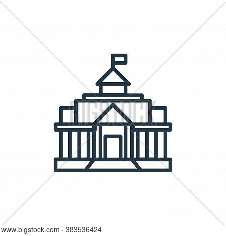 castle icon isolated on white background from building collection. castle icon trendy and modern cas