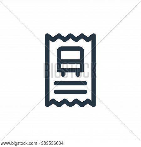 bus ticket icon isolated on white background from public transportation collection. bus ticket icon