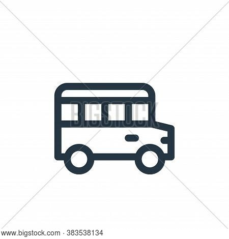 school bus icon isolated on white background from public transportation collection. school bus icon