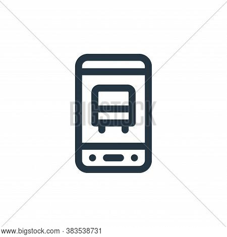 mobile app icon isolated on white background from public transportation collection. mobile app icon