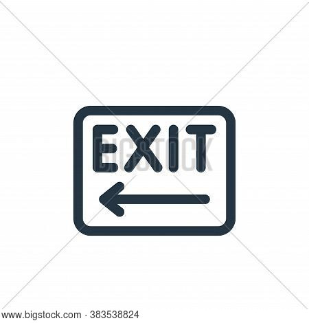 exit icon isolated on white background from public transportation collection. exit icon trendy and m