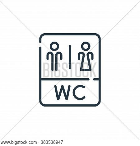 wc icon isolated on white background from restaurant collection. wc icon trendy and modern wc symbol