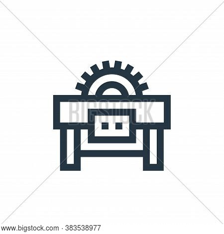 saw machine icon isolated on white background from machinery collection. saw machine icon trendy and