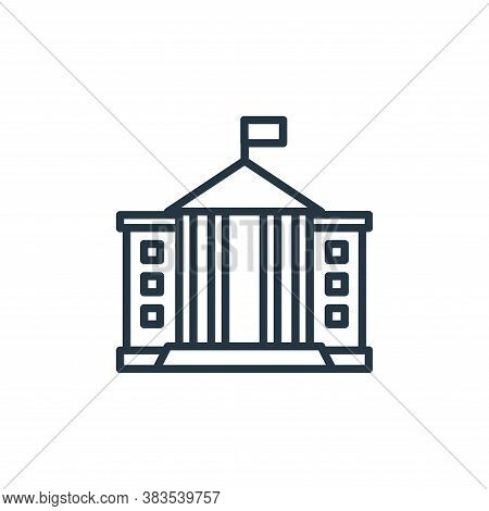 white house icon isolated on white background from building collection. white house icon trendy and