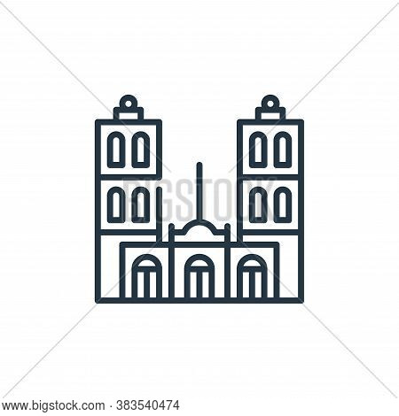 cathedral icon isolated on white background from cinco de mayo collection. cathedral icon trendy and