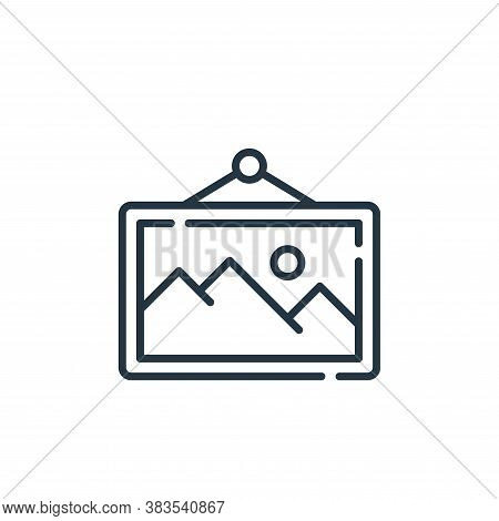 picture icon isolated on white background from office collection. picture icon trendy and modern pic