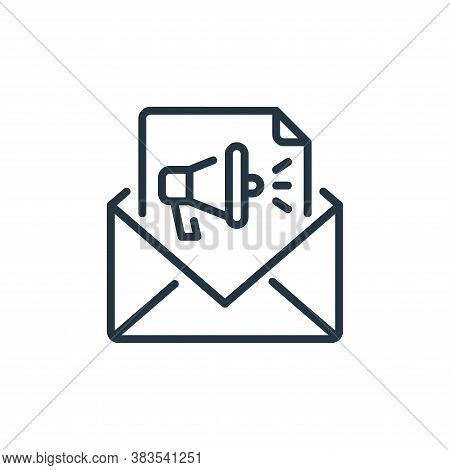 email marketing icon isolated on white background from seo and marketing collection. email marketing