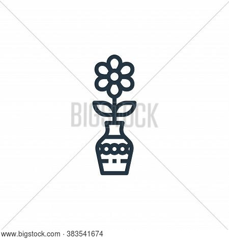 flower pot icon isolated on white background from furniture collection. flower pot icon trendy and m