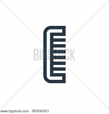 hair comb icon isolated on white background from hairdressing and barber shop collection. hair comb