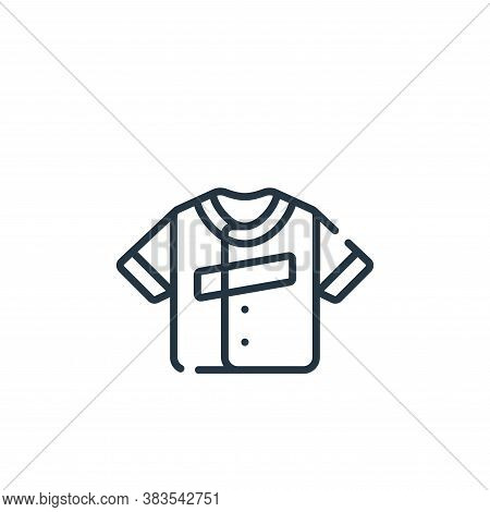 jersey icon isolated on white background from baseball collection. jersey icon trendy and modern jer