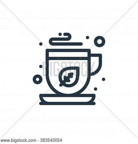 green tea icon isolated on white background from food collection. green tea icon trendy and modern g
