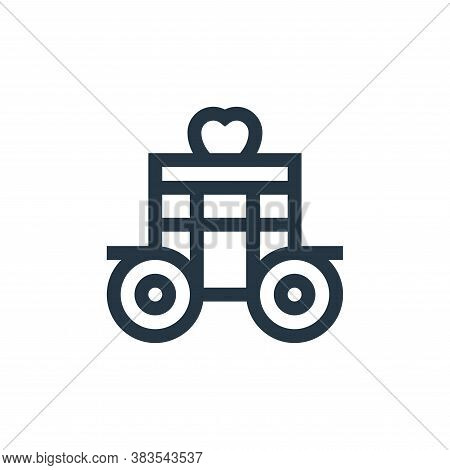 carriage icon isolated on white background from fairytale collection. carriage icon trendy and moder