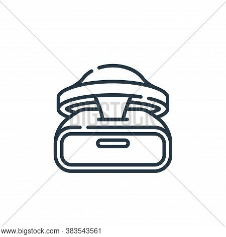 vr glasses icon isolated on white background from hardware collection. vr glasses icon trendy and mo